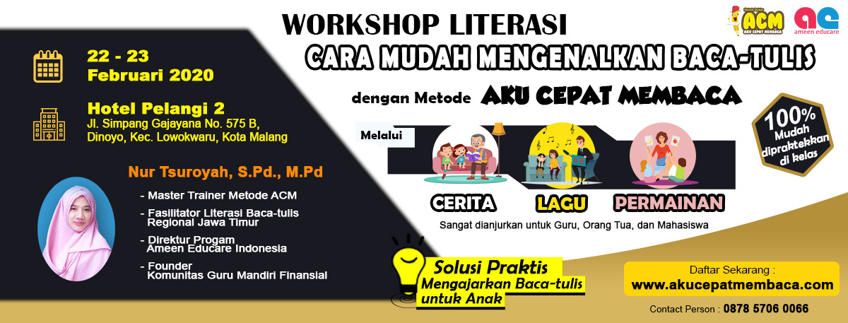 Workshop literasi baca tulis Malang 2020