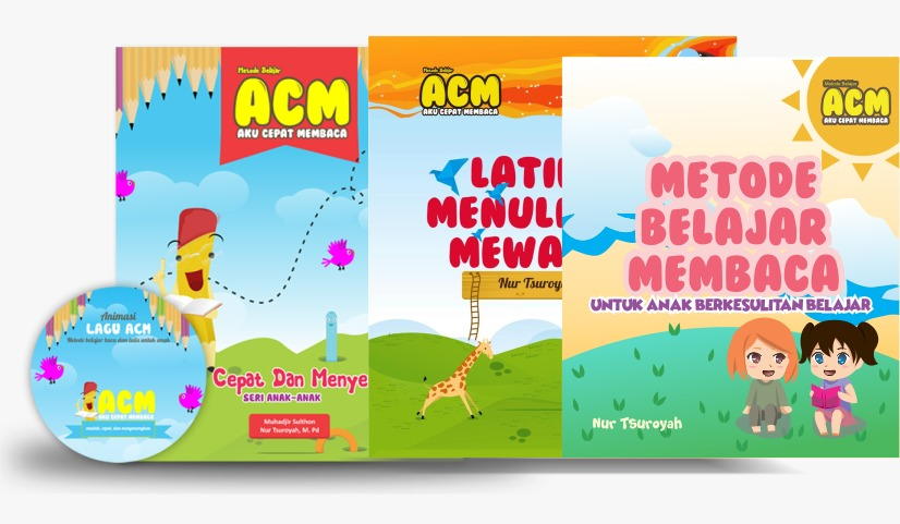 Buku Belajar Membaca untuk Anak Metode ACM Paket 3
