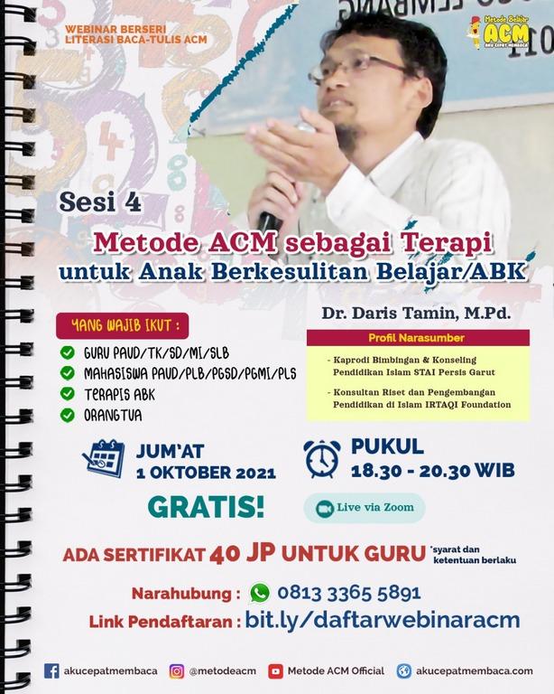 Webinar metode acm - metode acm sebagai terapi untuk anak berkesulitan belajar-abk